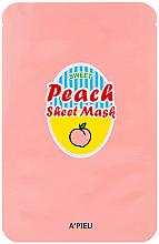 Parfüm, Parfüméria, kozmetikum Szövetmaszk őszibarack és joghurt kivonattal - A'Pieu Peach & Yogurt Sheet Mask
