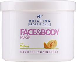 """Parfüm, Parfüméria, kozmetikum Maszk arcra és testre """"Dinnye"""" - Hristina Professional Melon Face & Body Mask"""