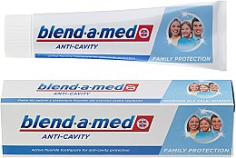 """Parfüm, Parfüméria, kozmetikum Fogkrém """"Fogszuvasodás ellen"""" család számára - Blend-a-med Anti-Cavity Family Protect Toothpaste"""