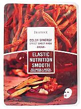 Parfüm, Parfüméria, kozmetikum Szövetmaszk keleti gyógynövényekkel és ginzeng gyökérrel - Deoproce Color Synergy Effect Sheet Mask Brown