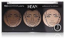 Parfüm, Parfüméria, kozmetikum Arcmodellező paletta 3 színárnyalat - Hean Pro-Countour Palette
