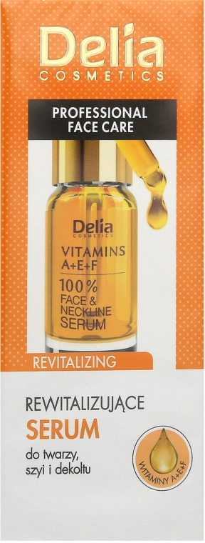 Ránctalanító intenzív arc és nyakszérum A, E, F vitaminnal - Delia Face Care Anti-Wrinkle and Revitalizing Face Neckline Intensive Serum