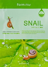 Parfüm, Parfüméria, kozmetikum Szövetmaszk csiga kivonattal - Farmstay Visible Difference Mask Sheet