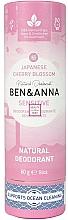 "Parfüm, Parfüméria, kozmetikum Dezodor ""Japán cseresznyefa"" (karton) - Ben&Anna Natural Natural Deodorant Sensitive Japanese Blossom"