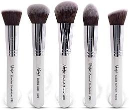 Parfüm, Parfüméria, kozmetikum Ecset készlet - Nanshy Face Brush Set White (Brush/5db)