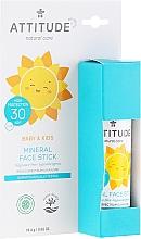 Parfüm, Parfüméria, kozmetikum Napvédő stick arcra - Attitude Mineral Face Stick SPF 30
