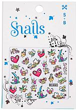 Parfüm, Parfüméria, kozmetikum Körömdíszítő matricák - Snails 3D Nail Stickers