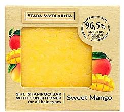 """Parfüm, Parfüméria, kozmetikum Szilárd sampon-kondicionáló """"Édes mangó"""" - Stara Mydlarnia Sweet Mango 2in1 Shampoo Bar"""