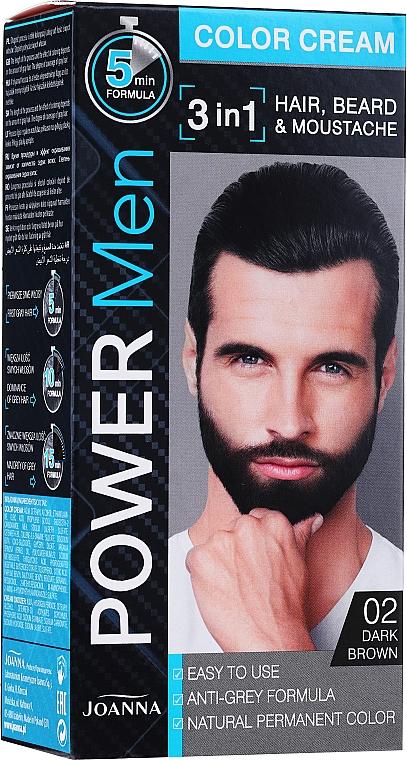 Tartós szakáll- és bajuszfesték 3 az 1-ben férfiaknak - Joanna Power Man Color