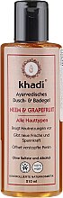 """Parfüm, Parfüméria, kozmetikum Tusoló és fürdőgél """"Niim-grapefruit"""" - Khadi Bath & Body Wash Neem & Grapefruit"""