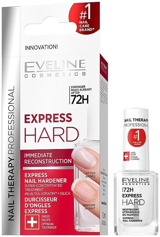 Expressz körömkeményítő - Eveline Cosmetics Nail Therapy Professional Express Hard 72h