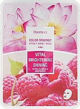 Parfüm, Parfüméria, kozmetikum Szövetmaszk lótuszvirág és málna - Deoproce Color Synergy Effect Sheet Mask Pink