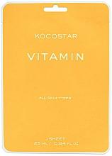 Parfüm, Parfüméria, kozmetikum Antioxidáns maszk arcbőr ragyogásáért vitaminokkal - Kocostar Vitamin Mask