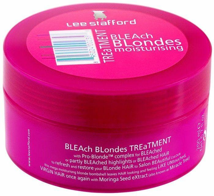 Intenzíven hidratáló hajmaszk - Lee Stafford Treatment Bleach Blondes — fotó N1