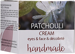 "Parfüm, Parfüméria, kozmetikum Krém arcra és dekoltázsra ""Pacsuli"" - Hristina Cosmetics Handmade Patchouli Eyes & Face & Decollete Cream"