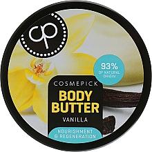 Parfüm, Parfüméria, kozmetikum Regeneráló testápoló vaj vanília kivonattal - Cosmepick Body Butter Vanilla
