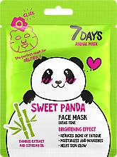 """Parfüm, Parfüméria, kozmetikum Arcmaszk """"Aranyos panda"""" - 7 Days Animal Sweet Panda"""