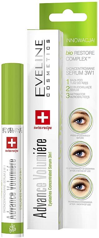 Aktív szempilla szérum 3 az 1-ben - Eveline Cosmetics Cosmetics Eyelashes Concentrated Serum 3In1