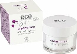 Parfüm, Parfüméria, kozmetikum Krém-maszk arcra hialuronsavval - Eco Cosmetics Cream Mask With OPC Q10 & Hyaluron
