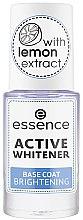 Parfüm, Parfüméria, kozmetikum Világosító körömlakk bázis - Essence Active Whitener Base Coat Brightening