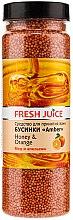Parfüm, Parfüméria, kozmetikum Fürdőgyöngyök - Fresh Juice Bath Bijou Amber Honey and Orange