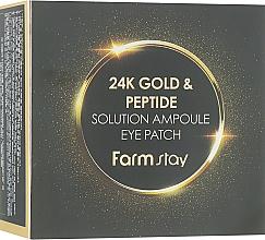 Parfüm, Parfüméria, kozmetikum Hidrogél szemtapasz 24 karátos arannyal és peptidekkel - FarmStay 24K Gold And Peptide Solution Ampoule Eye Patch