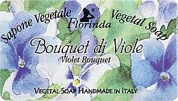 """Parfüm, Parfüméria, kozmetikum Természetes szappan """"Ibolya csokor"""" - Florinda Sapone Vegetale Vegetal Soap Violet Bouquet"""