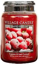 Parfüm, Parfüméria, kozmetikum Aroma gyertya - Village Candle Cypress & Iced Currant Glass Jar