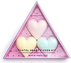 Parfüm, Parfüméria, kozmetikum Készlet - I Heart Revolution Pastel Heart Fizzer Kit (bath/fiz/40gx3)