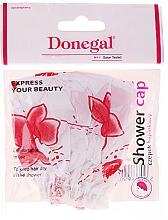 Parfüm, Parfüméria, kozmetikum Zuhanysapka, 9298, fehér-piros virágok - Donegal