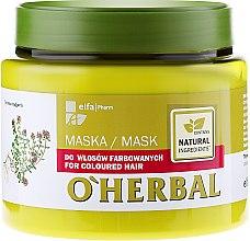 Parfüm, Parfüméria, kozmetikum Maszk festett hajra kakukkfű kivonattal - O'Herbal