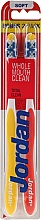 "Parfüm, Parfüméria, kozmetikum Fogkefe lágy ""Total Clean"", piros+sárga - Jordan Total Clean Soft"