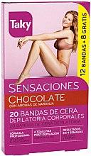 Parfüm, Parfüméria, kozmetikum Gyantacsíkok - Taky Chocolate Body Wax Strips With Orange Fragrance Box