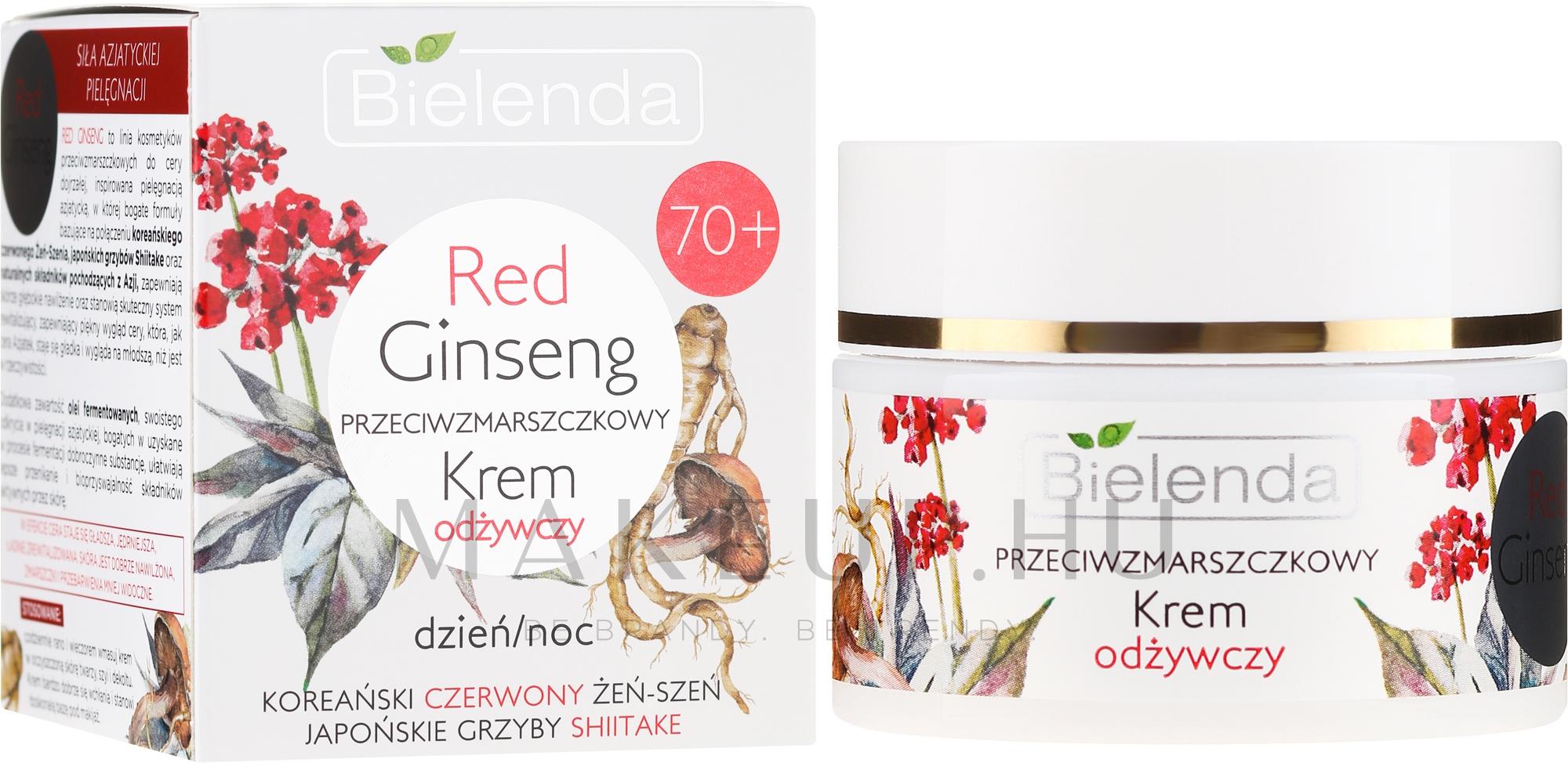 Ránctalanító krém - Bielenda Red Ginseng Nourishing Face..