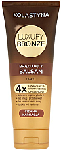 Parfüm, Parfüméria, kozmetikum Önbarnító balzsam sötét bőrre - Kolastyna Luxury Bronze Tanning Balm