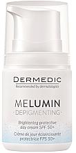 Parfüm, Parfüméria, kozmetikum Nappali krém pigmentfoltok ellen - Dermedic MeLumin Depigmenting Cream SPF 50+