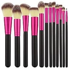Parfüm, Parfüméria, kozmetikum Professzionális sminkecset szett 12 db, rózsaszín feketével - Tools For Beauty