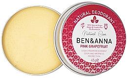 Parfüm, Parfüméria, kozmetikum Természetes krémes dezodor - Ben & Anna Pink Grapefruit Soda Cream Deodorant