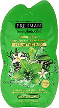 Parfüm, Parfüméria, kozmetikum Lehúzható arcmaszk fehérítő hatással - Freeman Feeling Beautiful Brightening Green Tea+Ornge Blossom Peel-Off Gel Mask (mini)