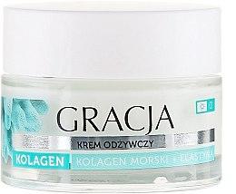"""Parfüm, Parfüméria, kozmetikum Ránctalanító tápláló krém """"Tengeri kollagén és elasztin"""" - Gracja Sea Collagen And Elastin Anti-Wrinkle Day/Night Cream"""