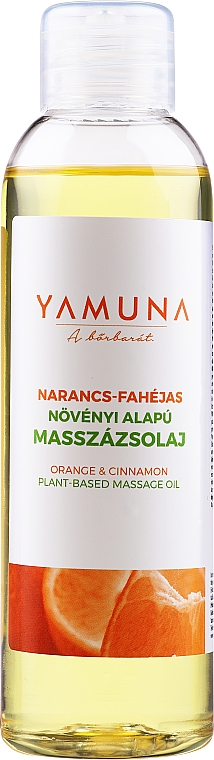 "Masszázsolaj ""Narancs-fahéj"" - Yamuna Orange-Cinnamon Plant Based Massage Oil"