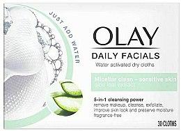 Parfüm, Parfüméria, kozmetikum Aktivált száraz törlőkendő érzékeny bőrre - Olay Cleanse Daily Facials Cloths Sensitive