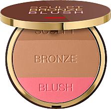 Parfüm, Parfüméria, kozmetikum Kompakt arcpúder 3az1 - Pupa Sculpt Bronze Blush