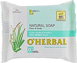 Parfüm, Parfüméria, kozmetikum Természetes szappan aloe vera kivonattal és zöld agyaggal - O'Herbal Natural Soap
