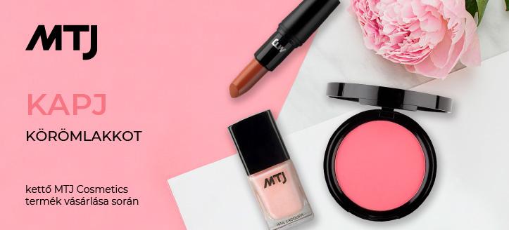 Kettő MTJ Cosmetics termék vásárlása során, kapj ajándékba körömlakkot