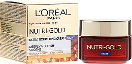 Parfüm, Parfüméria, kozmetikum Hidratáló éjszakai arckrém - L'Oreal Paris Nutri Gold Night Cream