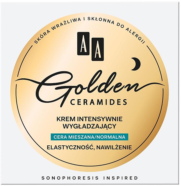 Éjszakai feszesítő arckrém vegyes és normál bőrtípusra - AA Golden Ceramides Intensive Smoothing Night Cream