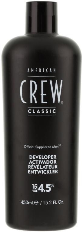 Színelőhívó ősz hajra - American Crew Precision Blend Developer 15 Vol 4.5% — fotó N1