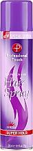Parfüm, Parfüméria, kozmetikum Hajlakk - Professional Touch Silk Protein + B5 Super Hold Hair Spray