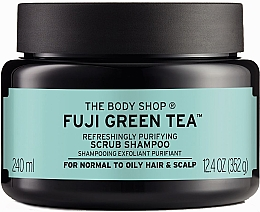 "Parfüm, Parfüméria, kozmetikum Sampon és radír ""Zöld tea"" - The Body Shop Fuji Green Tea Cleansing Hair Scrub"